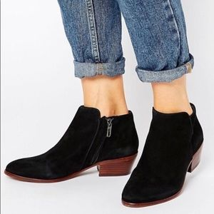 Sam Edelman Petty black suede booties